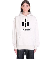 isabel marant étoile mansel sweatshirt in grey cotton