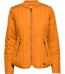 quilt jacket doorgestikte jas oranje ilse jacobsen