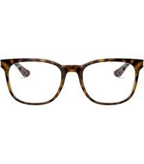 ray-ban ray-ban rx5369 top havana on transparent glasses