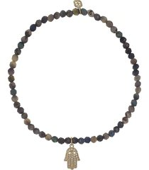 pave hamsa ethiopian opal bracelet