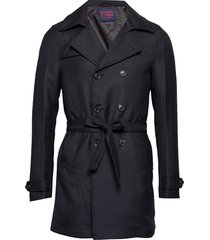 chic short trenchcoat wollen jas lange jas blauw scotch & soda