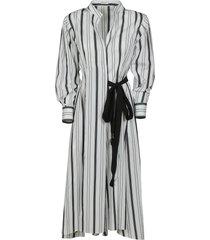 brunello cucinelli tie-waist stripe dress