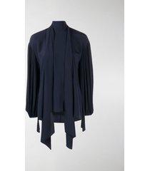 chloé tied neck blouse