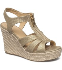 berkley wedge sandalette med klack espadrilles guld michael kors shoes