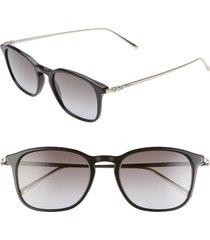 men's salvatore ferragamo classic logo 53mm gradient rectangle sunglasses - black
