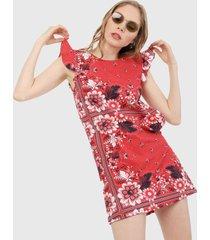 vestido mostaza-multicolor active