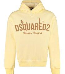 dsquared2 logo cotton hoodie