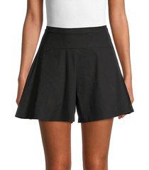 vince women's flounce a-line shorts - black - size 16