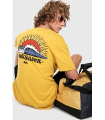 camiseta amarillo-multicolor quiksilver kool enough