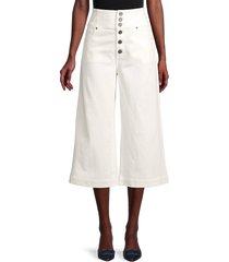 joie women's desoray wide-leg pants - porcelain - size 31 (10)