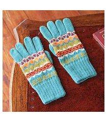 100% alpaca gloves, 'ancash fantasy' (peru)