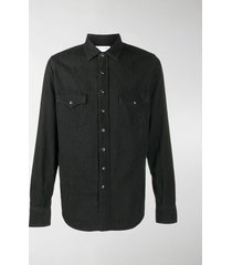 saint laurent stonewashed western shirt