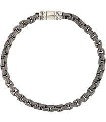 john hardy classic box chain bracelet - grey