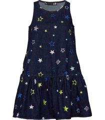 love moschino dress kort klänning blå love moschino