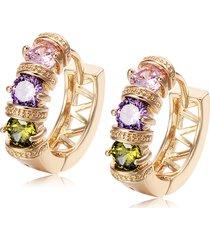 orecchini moda orecchio orecchini placcato oro colorato ziron hollow orecchini gioielli eleganti per le donne