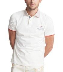 tommy hilfiger men's custom-fit logo club polo shirt