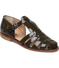 sandals - flat - closed toe - op shoes summer shoes flat sandals grön angulus