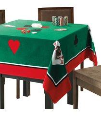 toalha de mesa dohler baralho verde