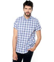 camisa azul-blanco-rojo nautica