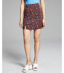 and now this women's printed hem-slit skirt