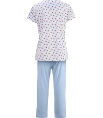pyjamas blue moon vit/ljusblåmelerad
