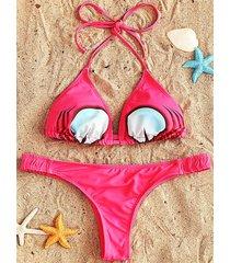 string bikini and thong set