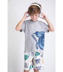 conjunto de pijama infantil acuo curto alô alô! masculino