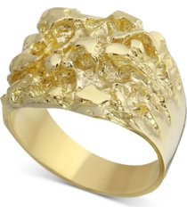 men's nugget ring in 10k gold