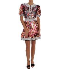 sequined crepe mini dress