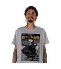 camiseta   stoned stoned magazine cinza