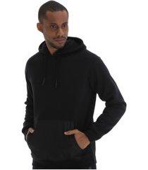 blusão de moletom com capuz oxer ripstop - masculino - preto