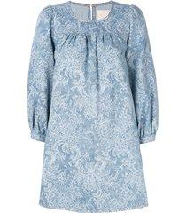 marc jacobs denim babydoll dress - blue