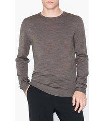 premium by jack & jones jprmark merino knit crew neck tröjor oatmeal