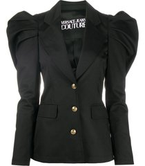versace jeans couture tapered sleeve blazer - black