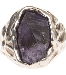 man ring with amethyst