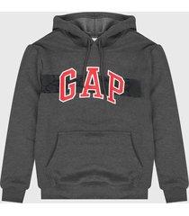 buzo gris-rojo-blanco gap