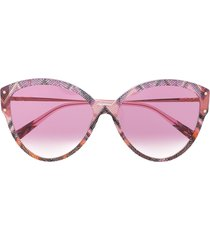 missoni eyewear abstract print oversized sunglasses - pink