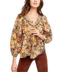 women's free people cool meadow print top, size x-small - brown