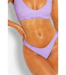 mix & match geplooid glitter bikinibroekje, lilac