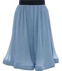 jw anderson trumpet hem pleated skirt - blue