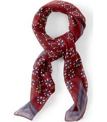 cotton/modal printed square scarf