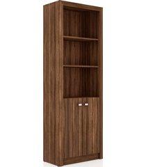 armário alto 2 prateleiras e 2 portas nogal me4110 videira