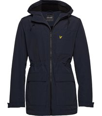 micro fleece lined jacket parka jas blauw lyle & scott