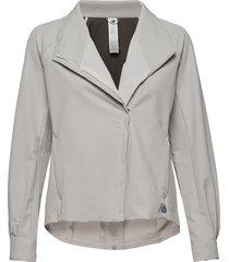 q speed run crew jacket outerwear sport jackets grijs new balance