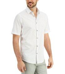 alfani men's dot print shirt, created for macy's