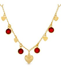 2028 channels with hearts drop necklace