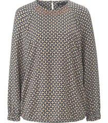 blouse met lange raglanmouwen en minimal-print van betty barclay multicolour