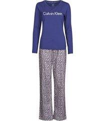 pyjama's / nachthemden calvin klein jeans pant set
