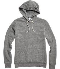 alternative apparel fleece gray modern fit hoodie pullover