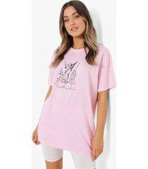 oversized heartbreaker t-shirt, pale pink
